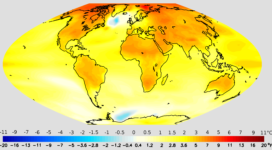 Projected surface air temperature change by the year 2050
